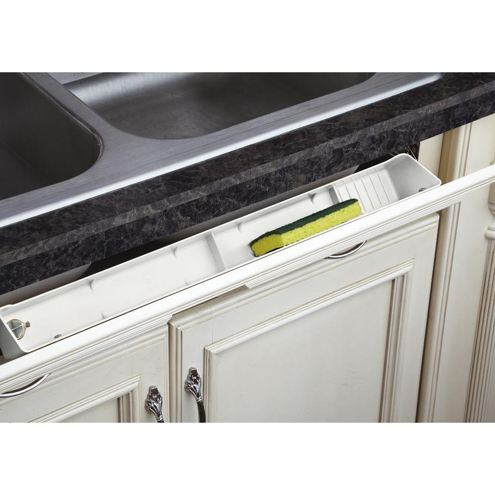 Rev-A-Shelf Stainless Tip-Out Tray With Soft Close Hinges for Kitchen Cupboard 22