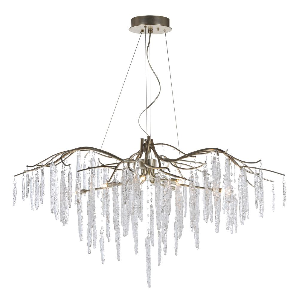 Maxim Lighting Willow 11-Light Silver Gold Chandelier Maxim Lighting's commitment to both the residential lighting and the home building industries will assure you a product line focused on your lighting needs. With Maxim Lighting accessories you will find quality product that is well designed, well priced and readily available. Maxim has fixtures in a variety of styles, and a strong presence in the energy-efficient lighting industry, Maxim Lighting is the clear choice for quality lighting.