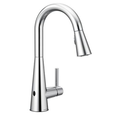 Sleek Touchless Single-Handle Pull-Down Sprayer Kitchen Faucet with MotionSense Wave in Chrome