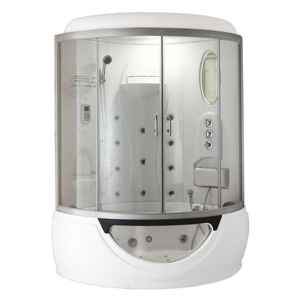Steam Planet Cascade 53 in x 53 in x 88 in Steam Shower Enclosure