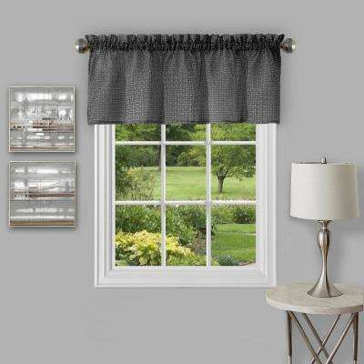 Richmond 14 in. L Polyester Valance in Black