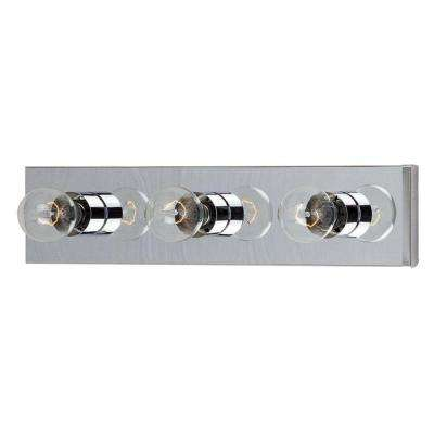Essentials - 445 x 3-Light Chrome Bath Vanity Light