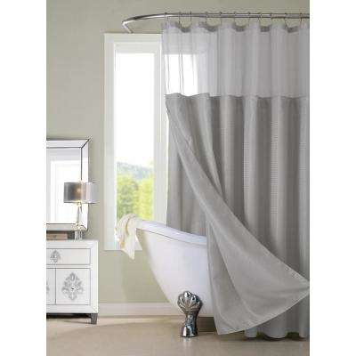Complete 72 in. Gray Shower Curtain