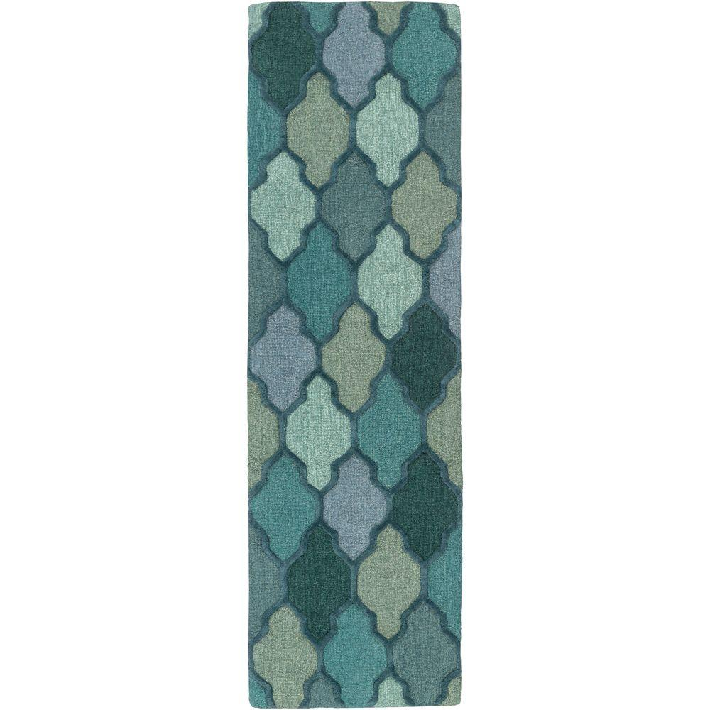 Pollack Morgan Green 2 ft. 3 in. x 14 ft. Indoor