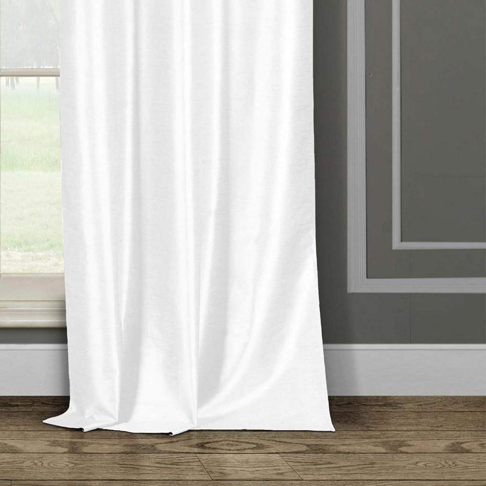 White 38 X 96 Duck River Textile Daenerys Faux Silk Grommet Top Window Curtain 2 Panel Set