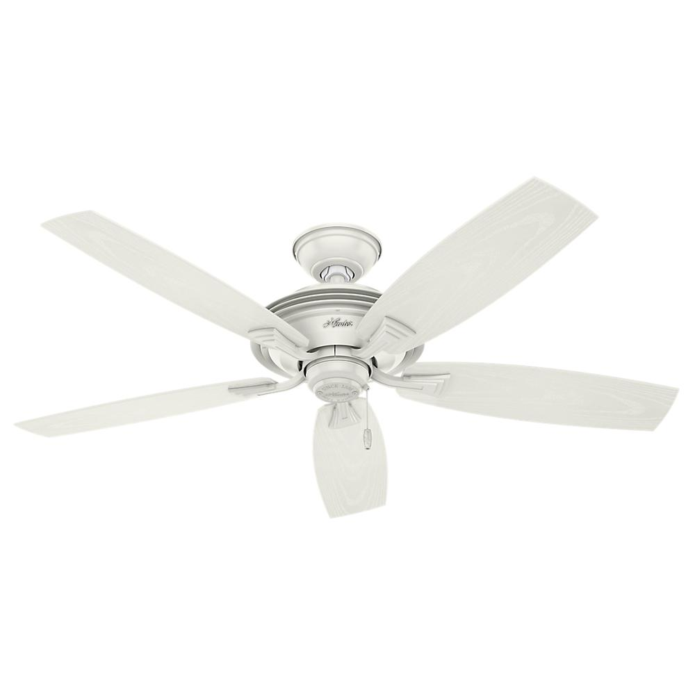 Hunter White Fan Part - 28: Hunter Rainsford 52 In. Outdoor Fresh White Ceiling Fan