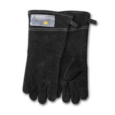 15 in. S/2 Grill Leather Gloves in Black