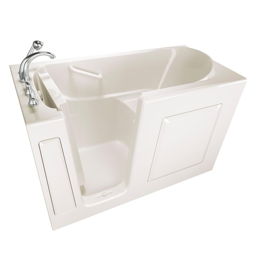Value Series 60 in. Left Hand Walk-In Bathtub in Biscuit