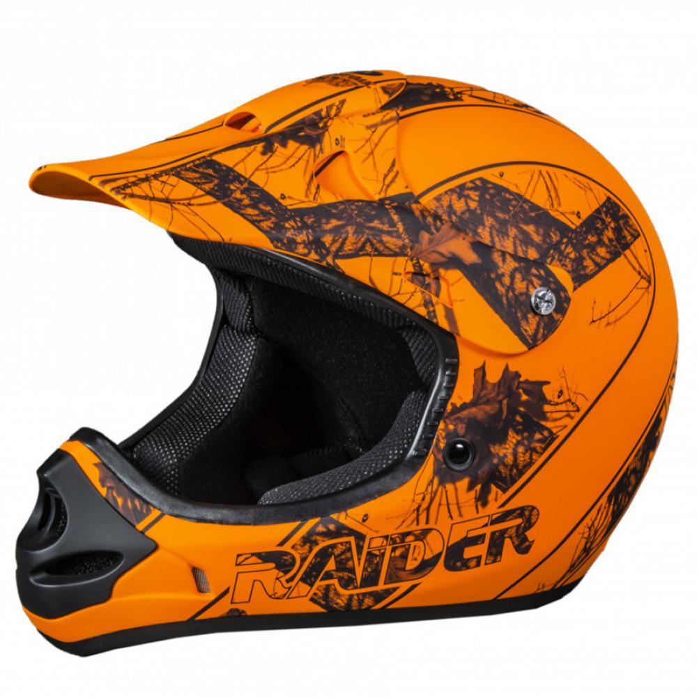 Raider Mx Small Mossy Oak Blaze Orange Camo Off Road