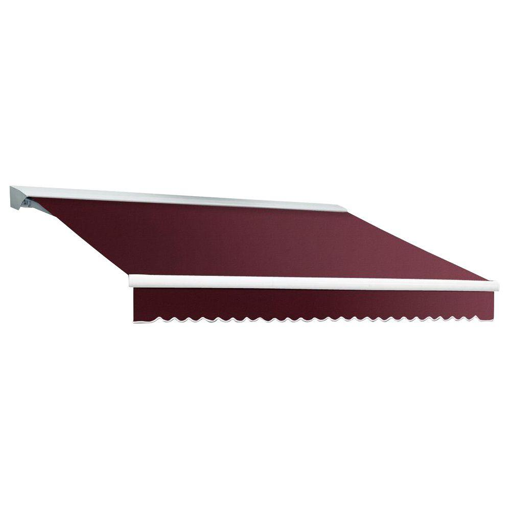 Beauty-Mark 8 ft. DESTIN EX Model Left Motor Retractable with Hood Awning (84 in. Projection) in Burgundy