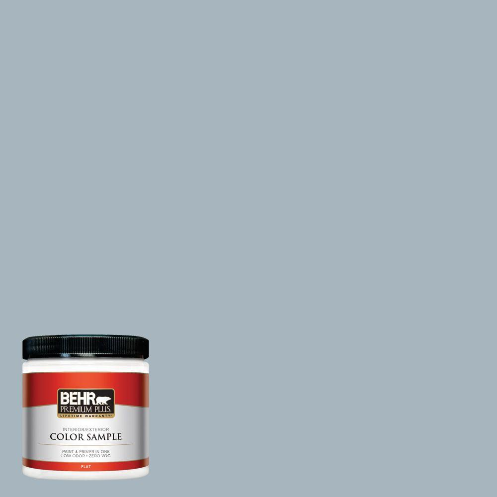 8 oz. #N480-3 Shadow Blue Interior/Exterior Paint Sample