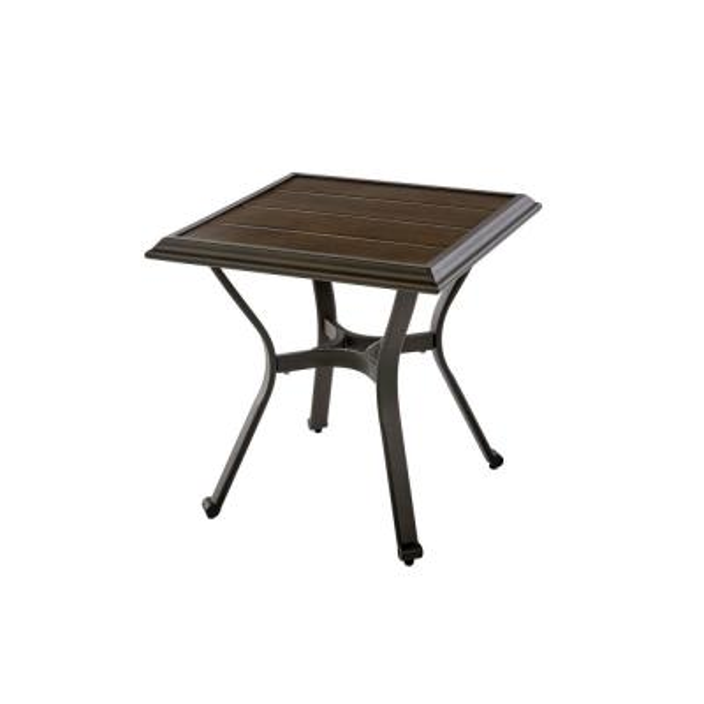 Becker Dark Mocha Steel Outdoor Patio Side Table