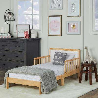 Brookside Natural and White Toddler Adjustable Bed