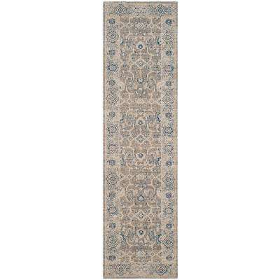 Patina Taupe/Ivory 2 ft. x 12 ft. Runner Rug