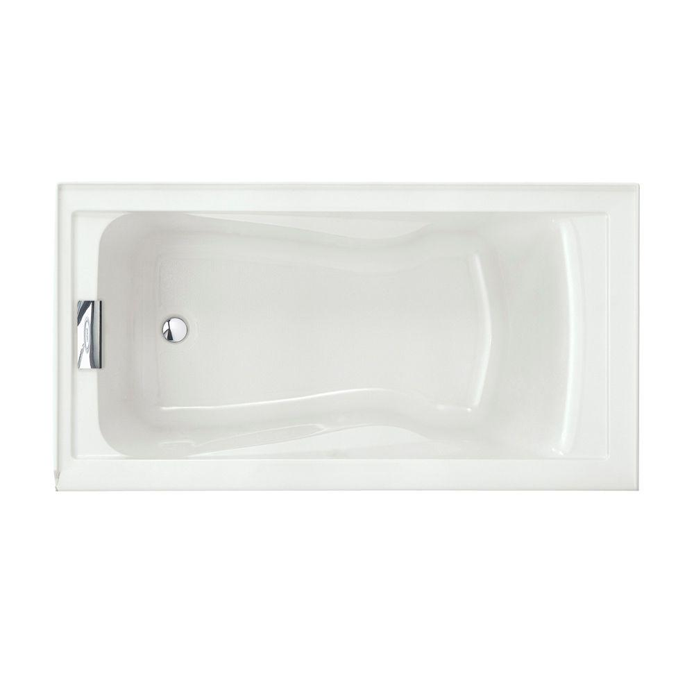 acrylic soaking tub 60 x 30. left drain soaking tub in white acrylic 60 x 30
