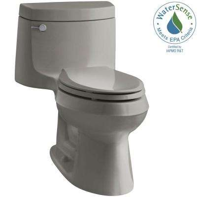 Cimarron 1-piece 1.28 GPF Single Flush Elongated Toilet with AquaPiston Flush Technology in Cashmere, Seat Included