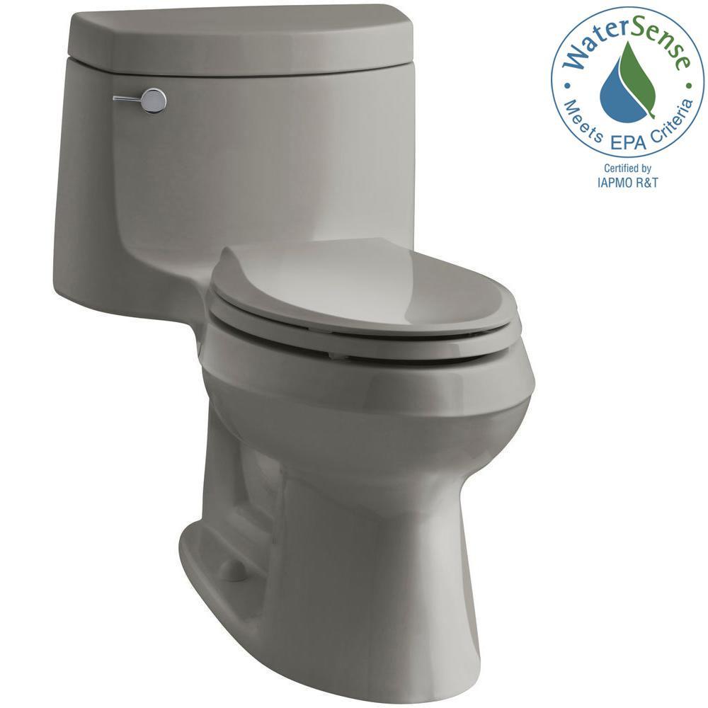 Cimarron 1-piece 1.28 GPF Single Flush Elongated Toilet with AquaPiston Flush Technology in Cashmere