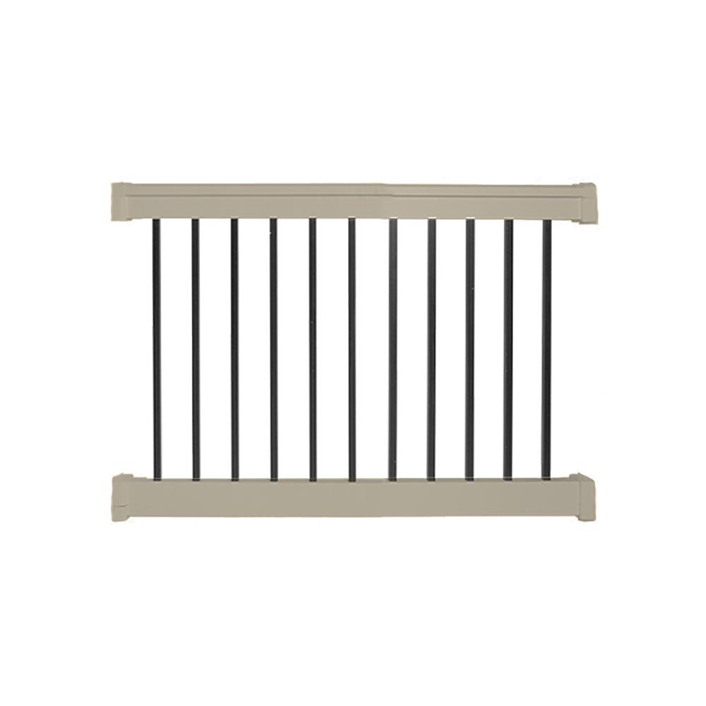 Weatherables Vilano 3 ft. H x  4 ft.  W Vinyl Khaki Railing Kit