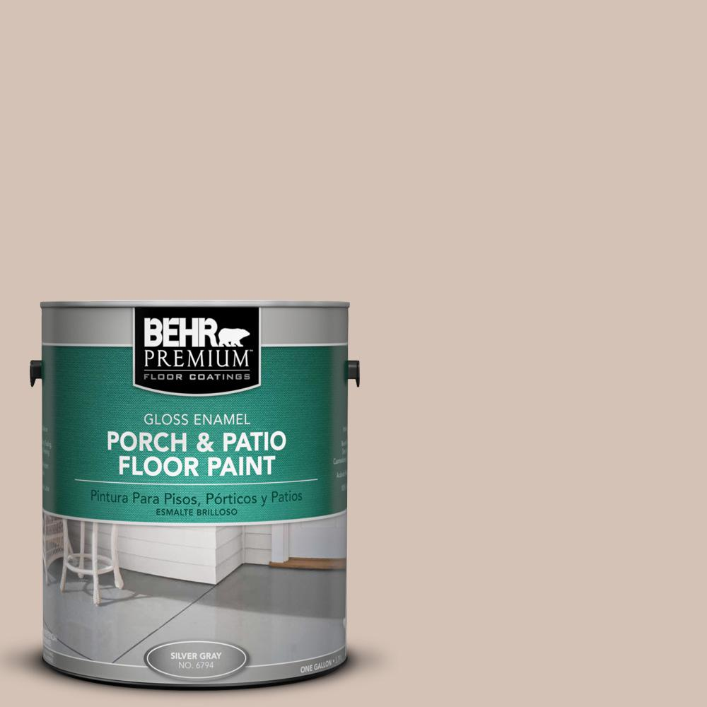 BEHR Premium 1 gal. #BIC-02 Hazy Taupe Gloss Enamel Interior/Exterior Porch and Patio Floor Paint