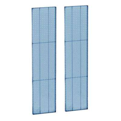 60 in. H x 13.5 in W Pegboard Blue Styrene One sided Panel (2-Pieces per Box)
