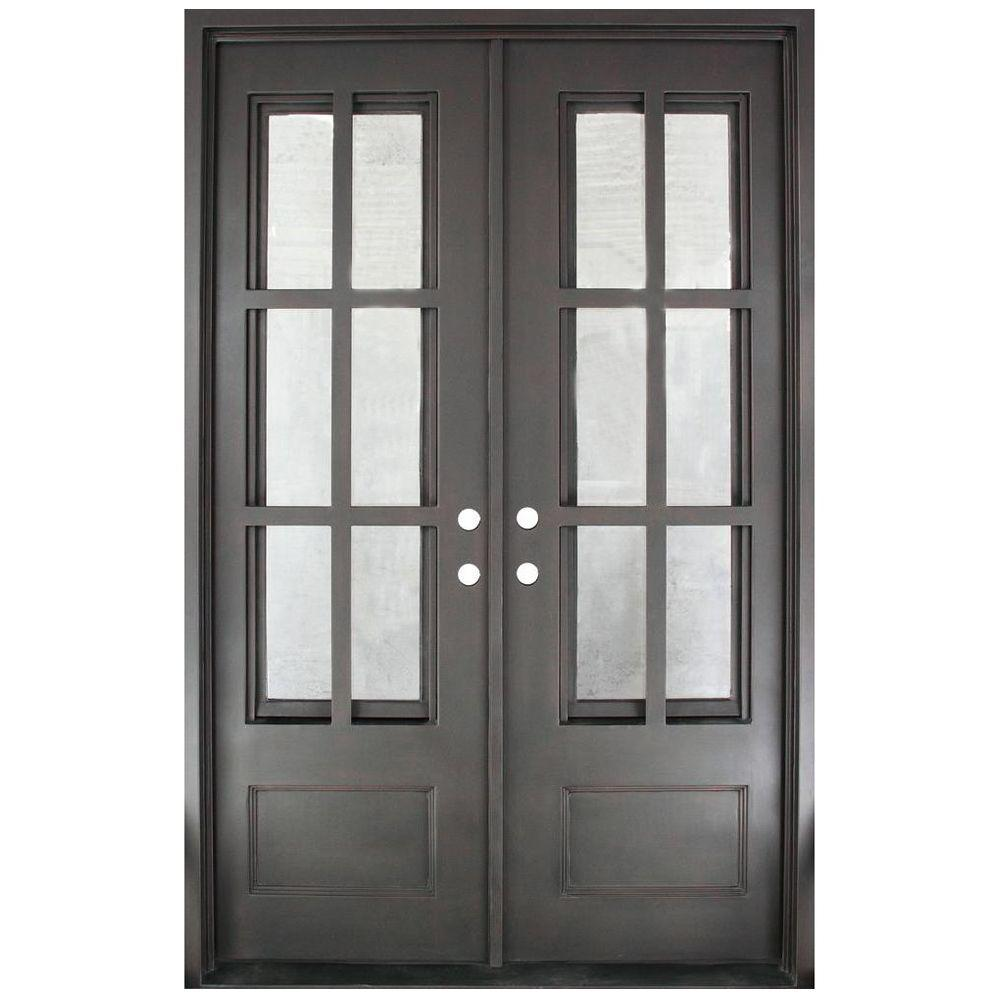 Iron Doors Unlimited 62 In. X 97.5 In. Craftsman Classic Clear 3/4