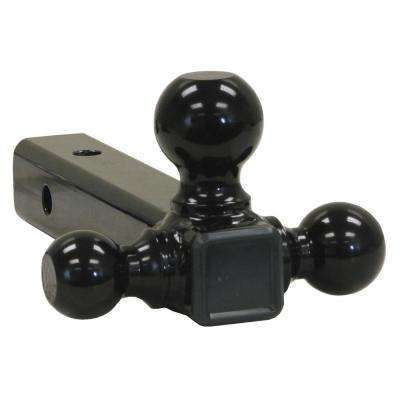 Tri-Ball Hitch-Tubular Shank with Black Towing Balls