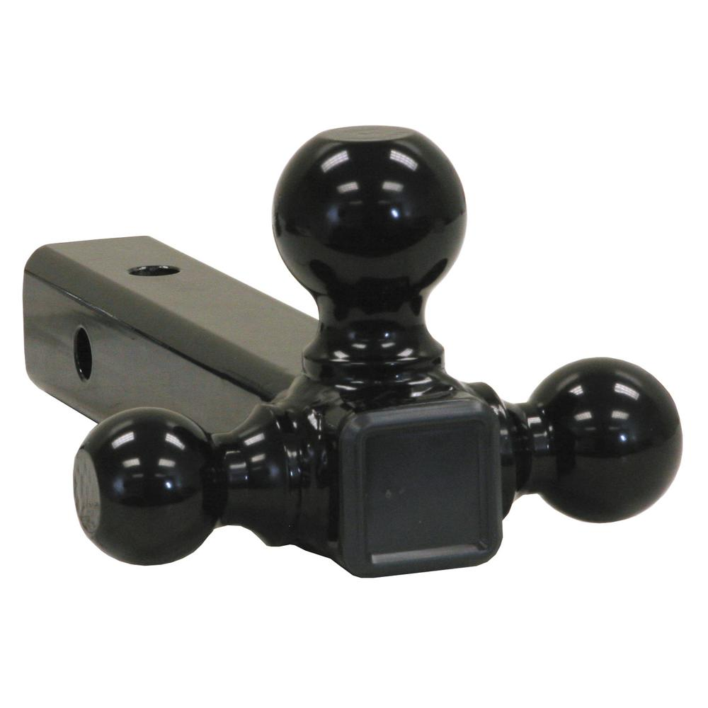 Buyers Products Company Tri-Ball Hitch-Tubular Shank with Black Towing Balls