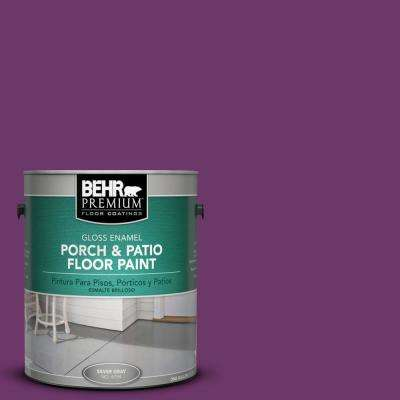 1 gal. #S-G-680 Raspberry Mousse Gloss Interior/Exterior Porch and Patio Floor Paint