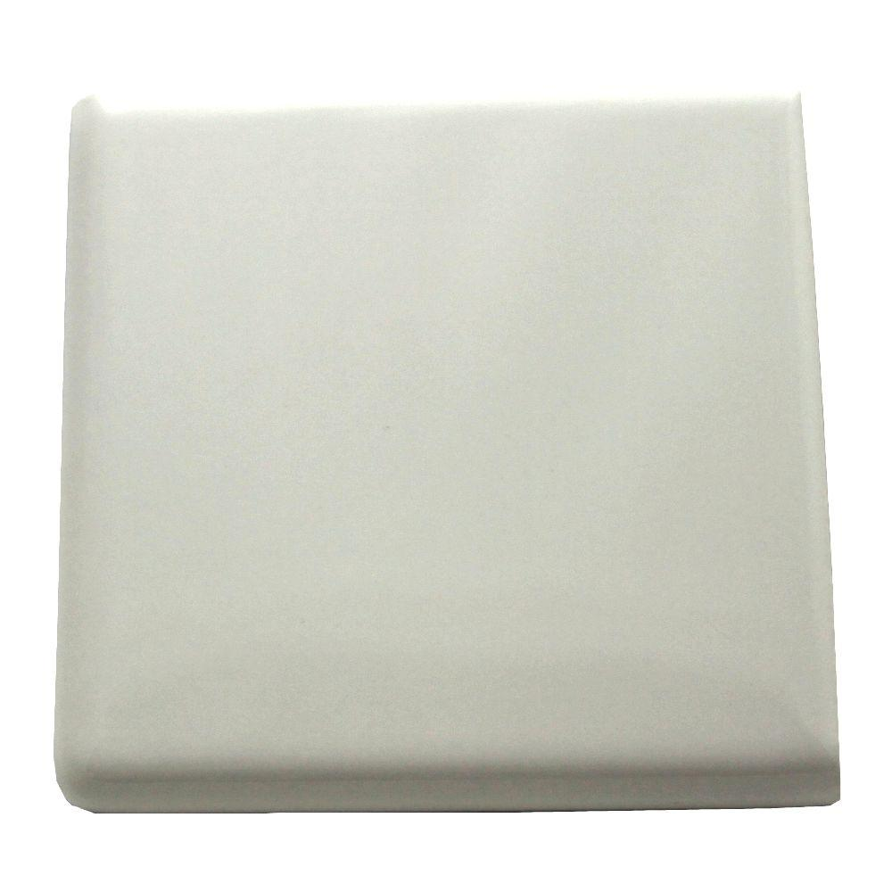 Daltile semi gloss white 4 14 in x 4 14 in ceramic bullnose out store sku 971824 dailygadgetfo Image collections