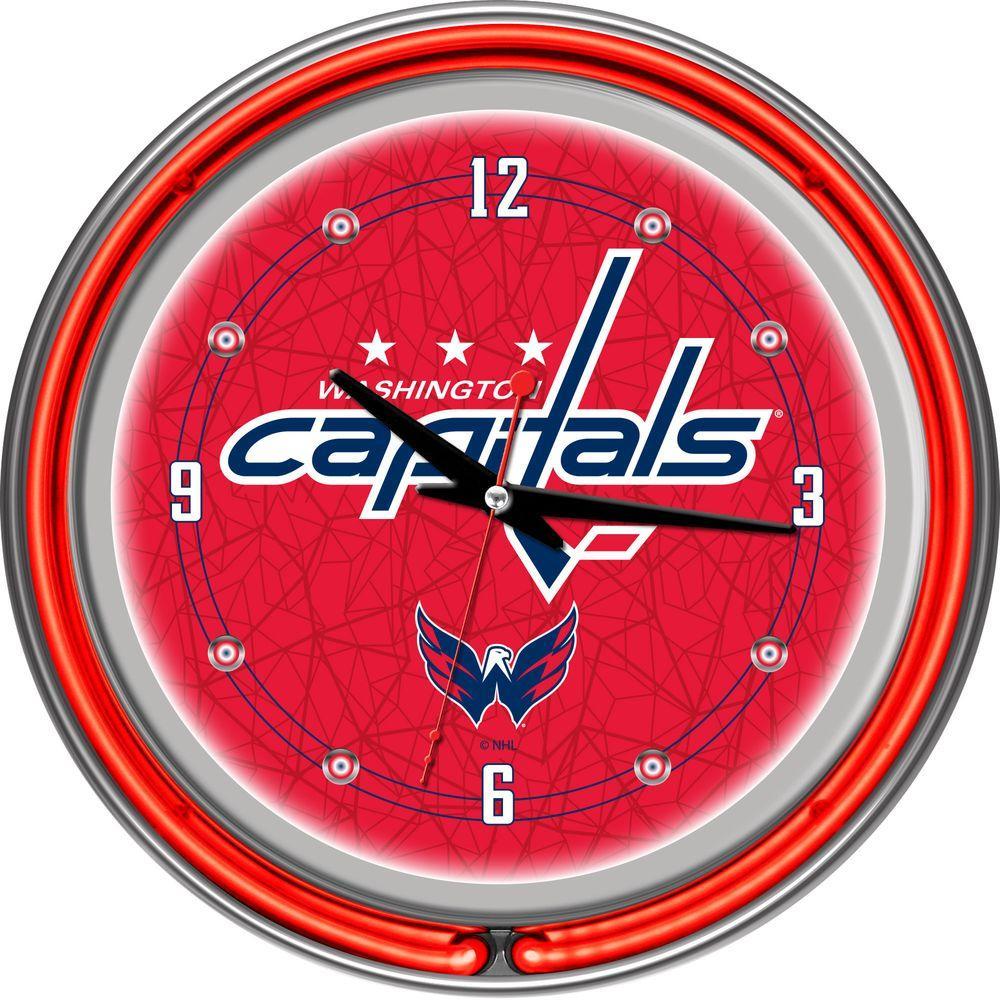 Trademark 14 in. Washington Capitals NHL Neon Wall Clock