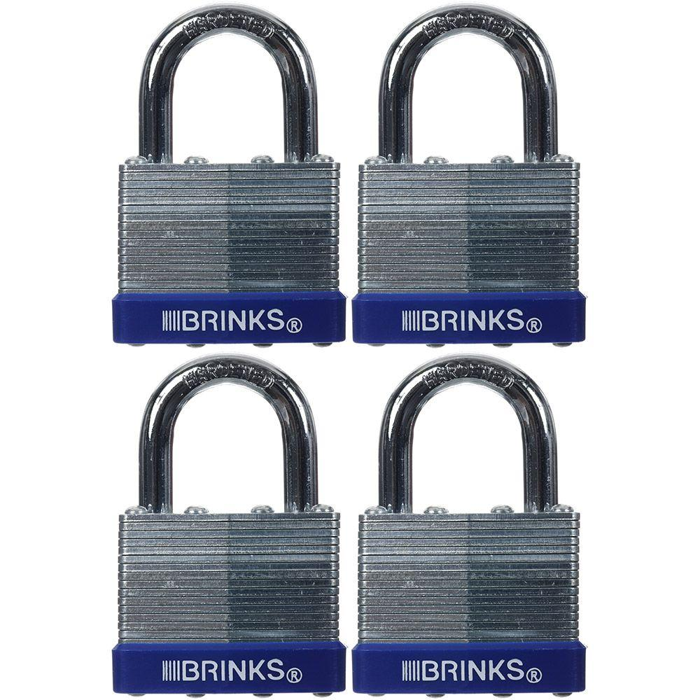 1-9/16 in. (40 mm) Laminated Steel Padlock (4-Pack)