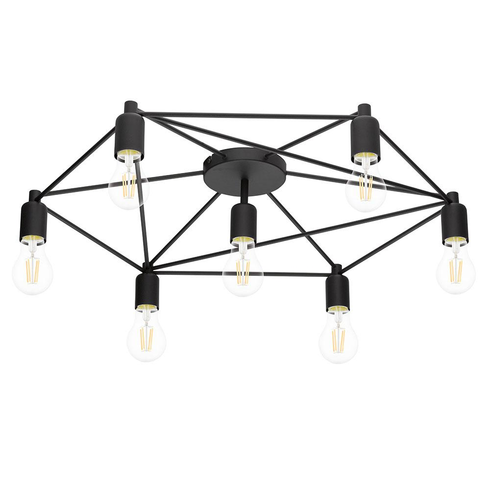Eglo Staiti 7-Watt Black Ceiling Light
