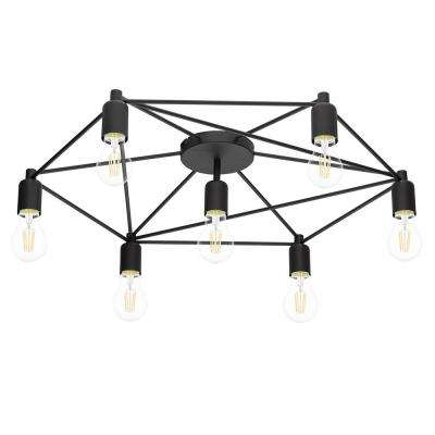 Staiti 7-Watt Black Ceiling Light