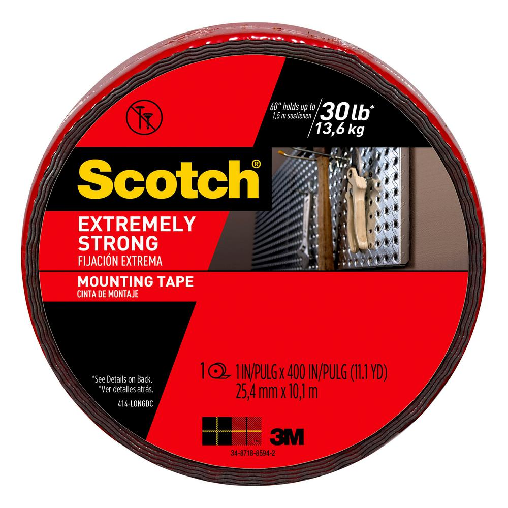 3M Scotch 1 in. x 11.1 yds. Permanent Double Sided Extreme Mounting Tape