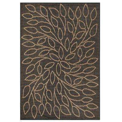 Persimmon Black 6 ft. x 9 ft. Area Rug