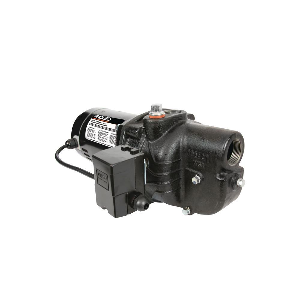 RIDGID 3/4 HP Cast Iron Shallow Well Jet Pump