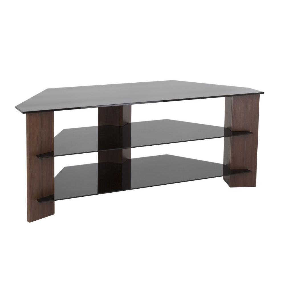 Avf varano walnut and black entertainement center for Avf furniture
