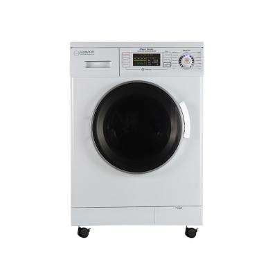 24 in. 1.6 cu. ft. White High Efficiency Ventless Electric All-in-One Washer Dryer Combo with Portability Kit
