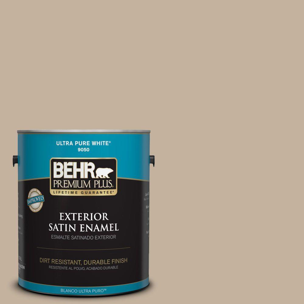1-gal. #BNC-03 Essential Brown Satin Enamel Exterior Paint