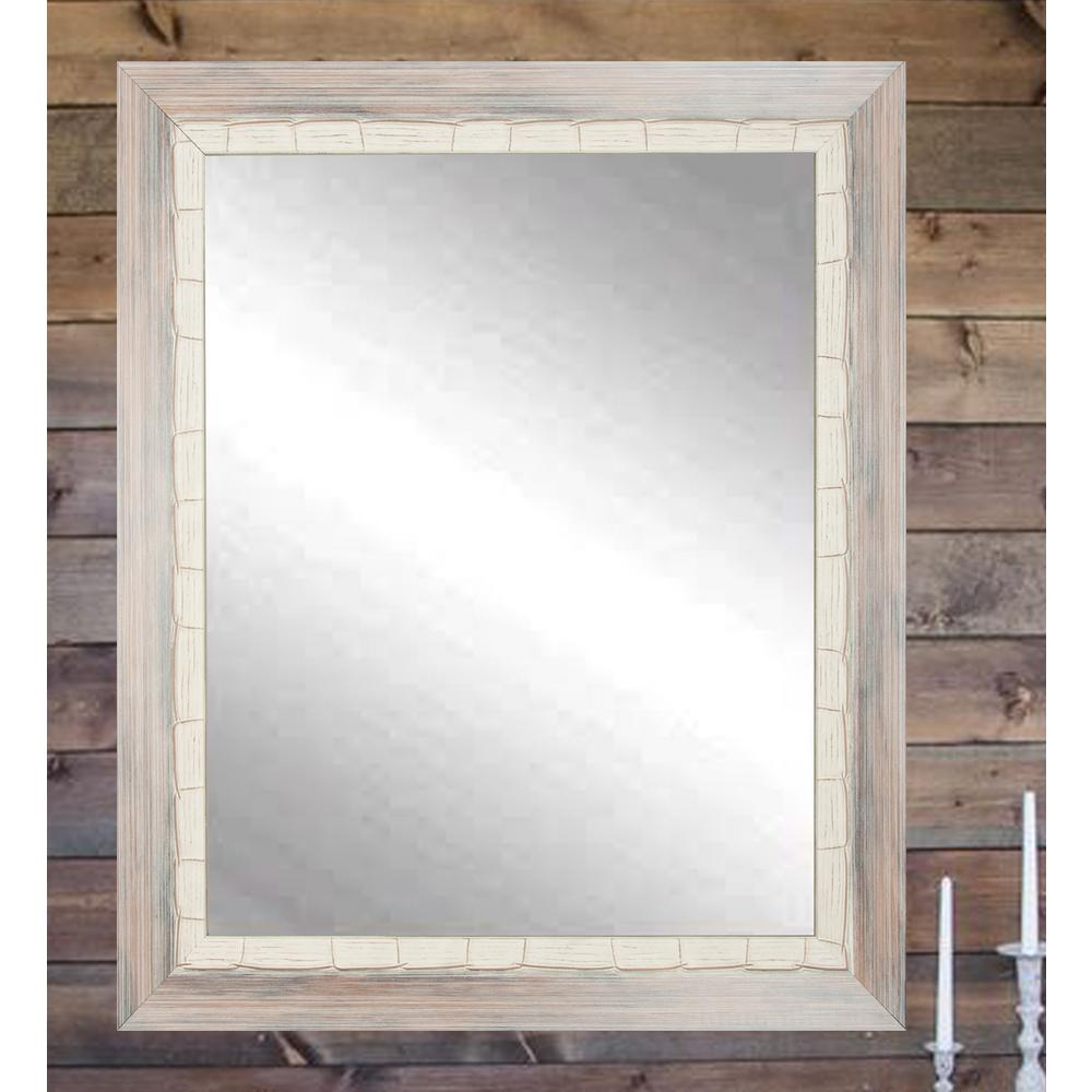 Weathered Cream Beach Framed Mirror-BM023SQ - The Home Depot