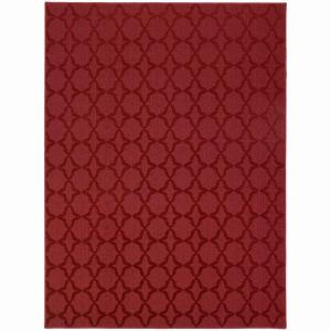 Garland Rug Sparta Chili Red 5 Ft X 7 Ft Area Rug Cl 10