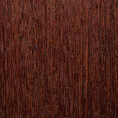 3 in. x 6 in. Garage Door Composite Material Sample in Mahogany Species with Walnut Finish