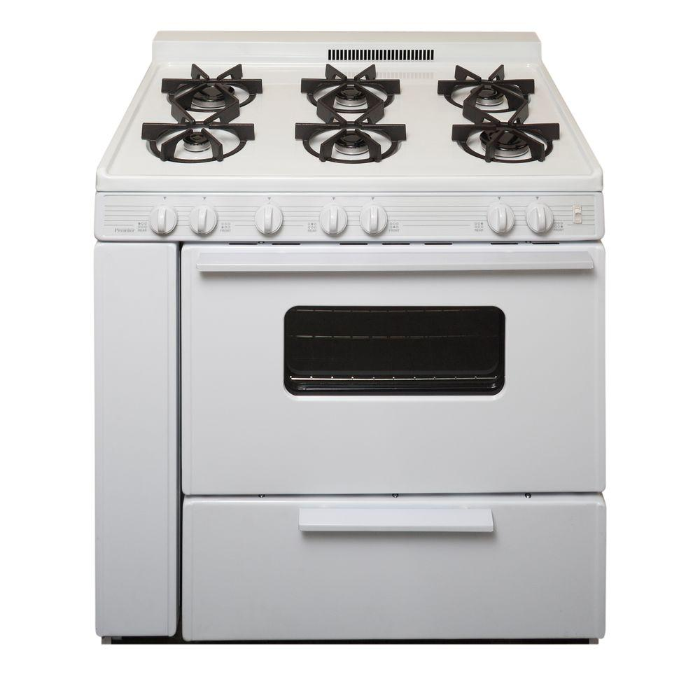 Gas Range With Sealed Burners In White