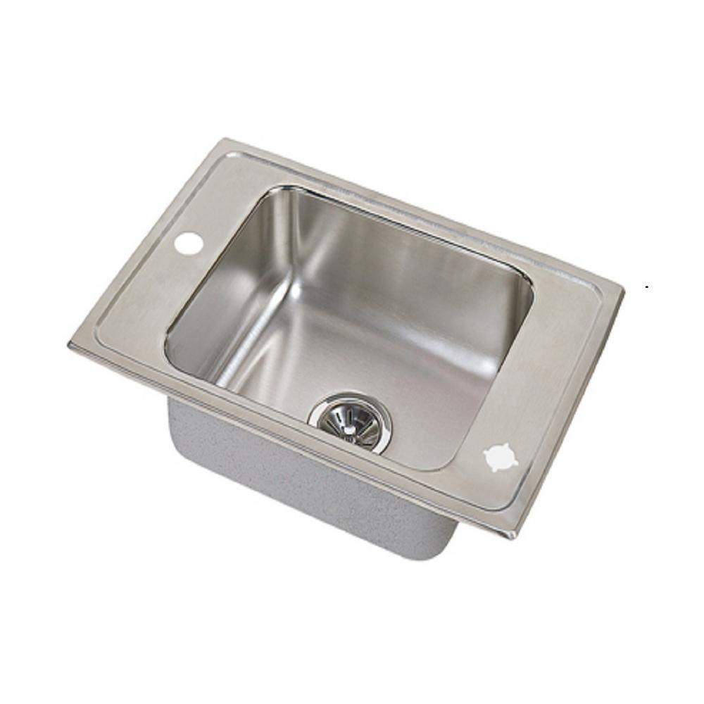 elkay sinks kitchen elkay lustertone drop in stainless steel 25 in 2 3558