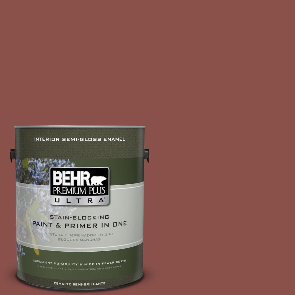 1-gal. #S150-6 Spiced Berry Semi-Gloss Enamel Interior Paint