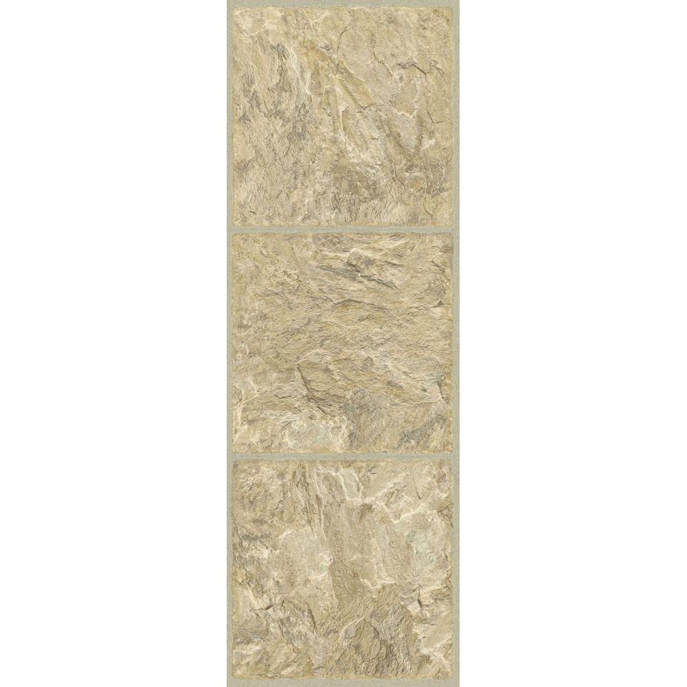 TrafficMASTER Allure 12 in. x 36 in. Gold Luxury Vinyl Tile Flooring (24 sq. ft. / case)
