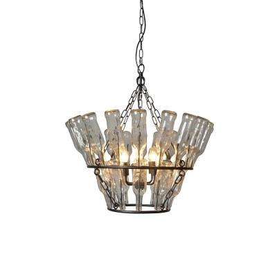 4-Light Black Chandelier