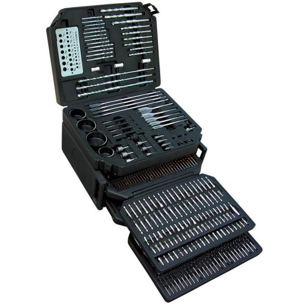 K Tool International KTI-10330 Master Drill Bit 326-piece Set, Includes Bits & Accessories For Nearly Every Job - Complete Craftsman Tool Set