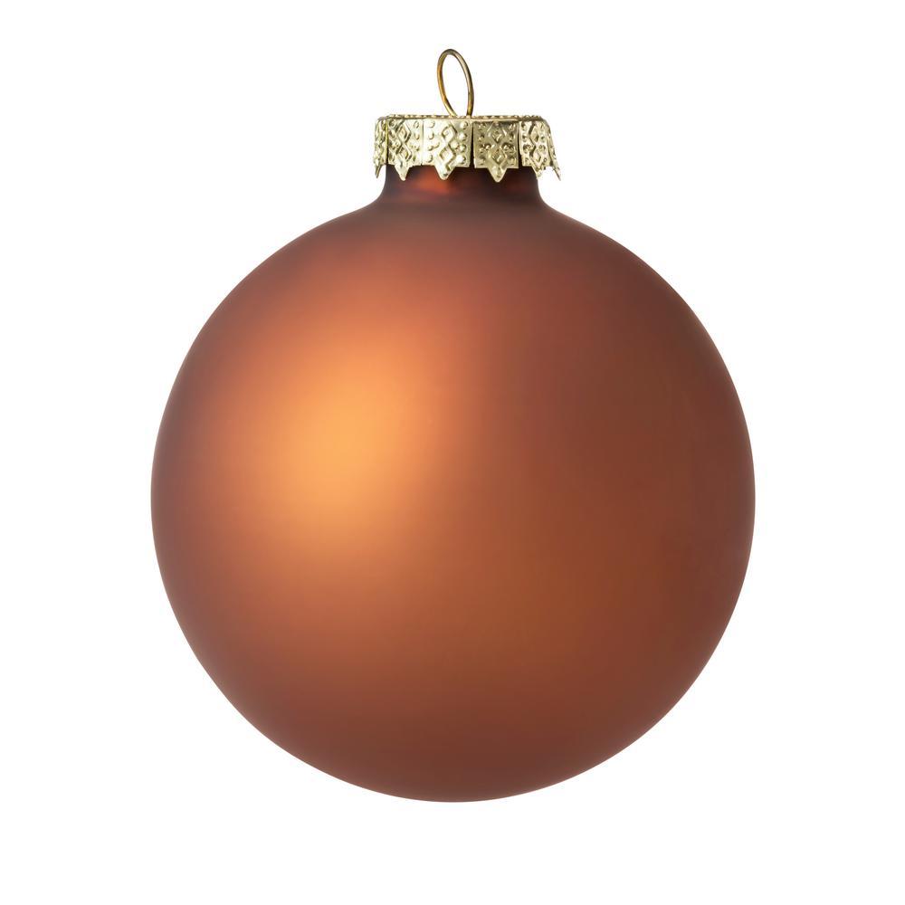 Whitehurst 4 In. Chocolate Matte Glass Christmas Ornament