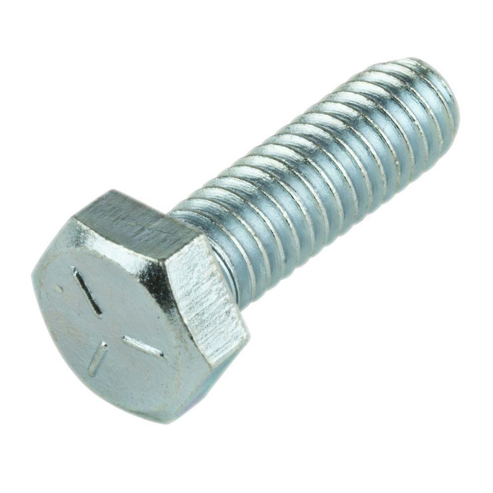 1/4 in. x 2-1/4 in. External Hex Hex-Head Cap Screws (25-Pack)
